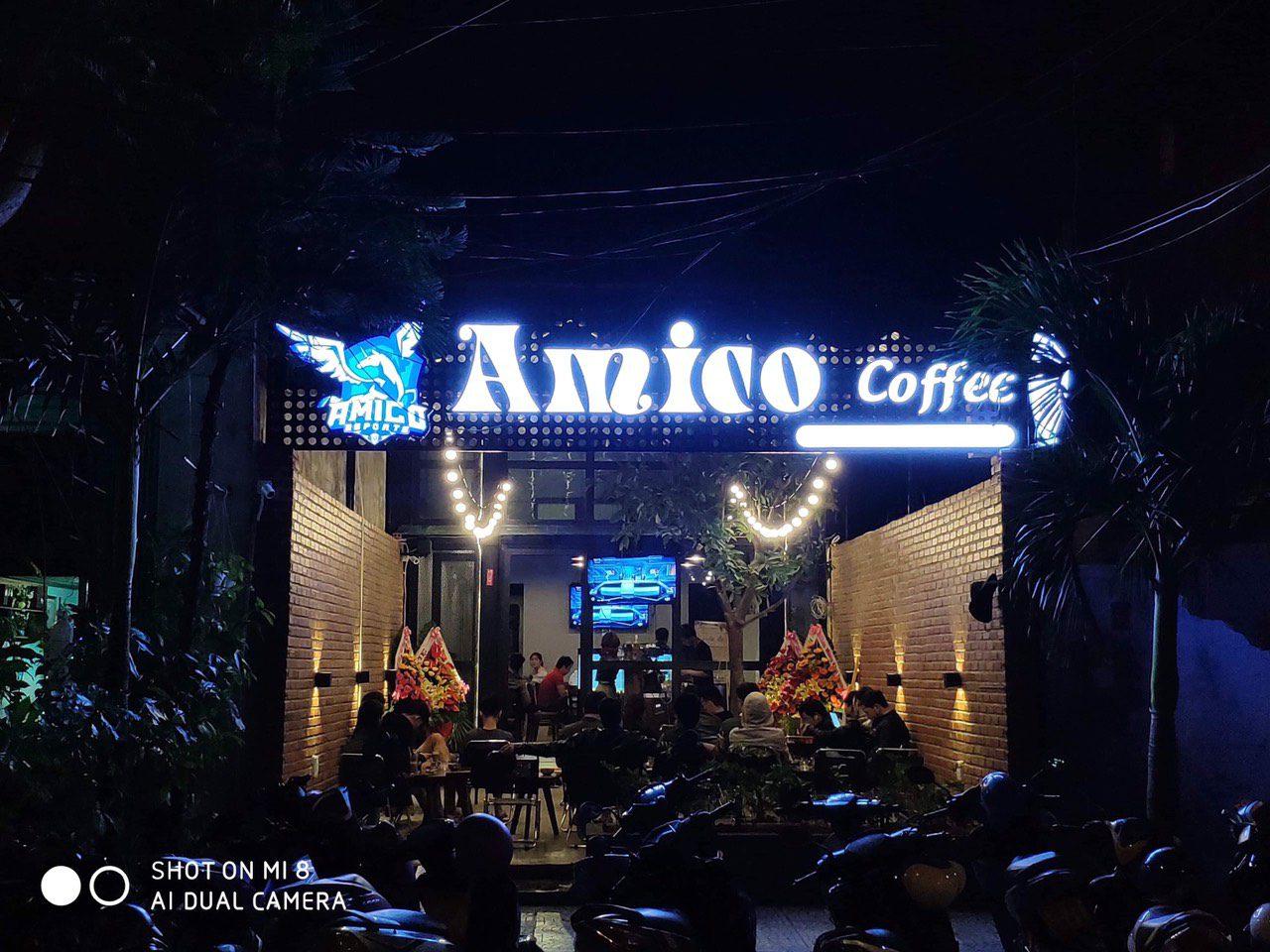 thiết kế thi công quán cf Amico