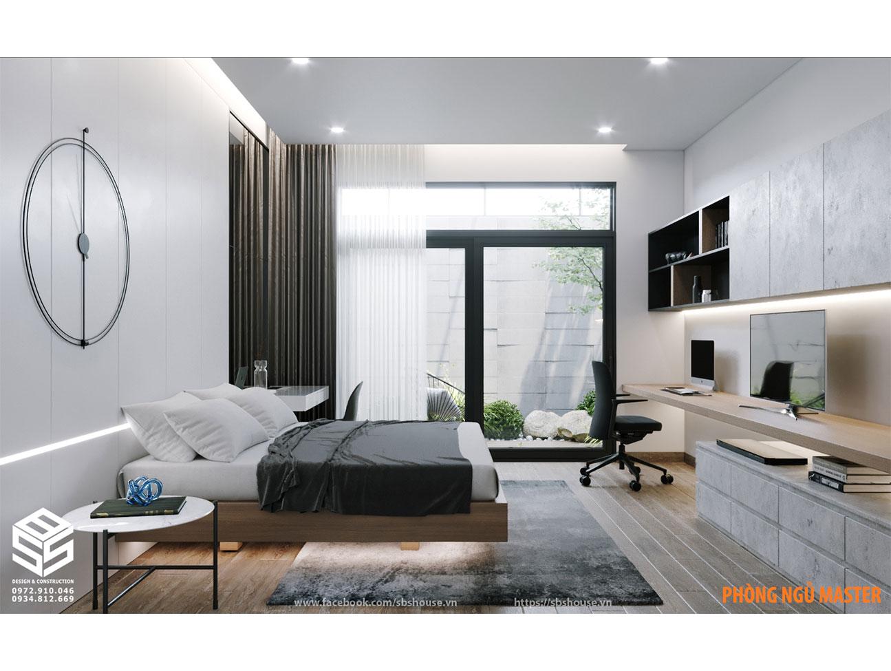 Mẫu thiết kế phòng ngủ thoáng
