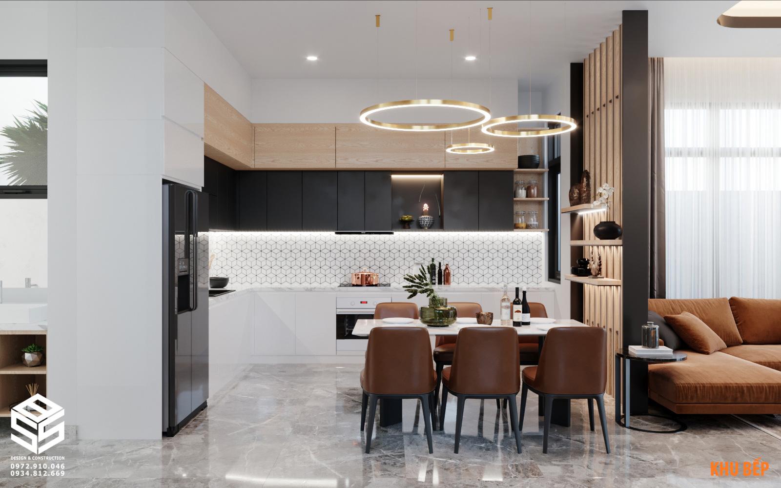 Phòng bếp biệt thự hiện đại