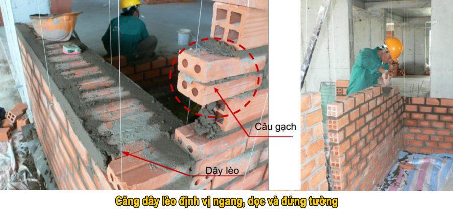 Kỹ thuật xây tường gạch đúng cách