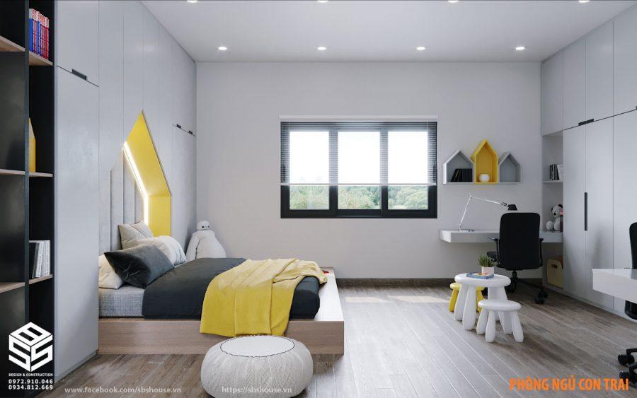 Mẫu thiết kế phòng ngủ con
