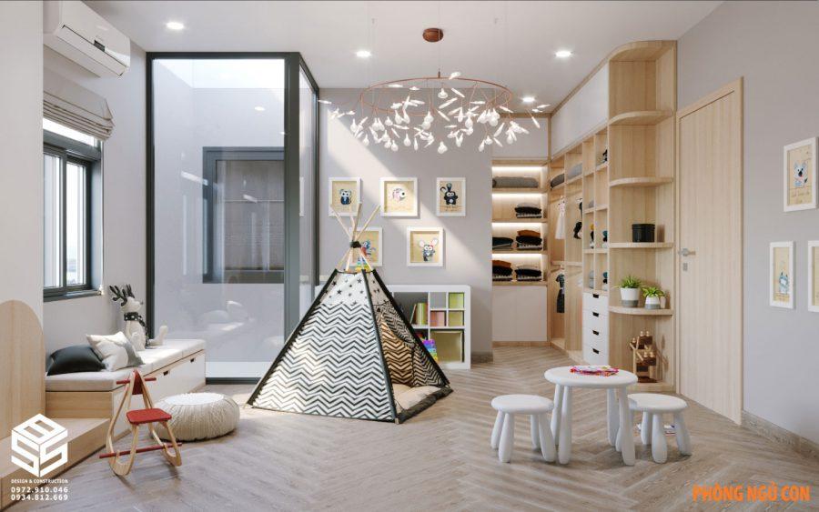 Mẫu thiết kế phòng ngủ trẻ con