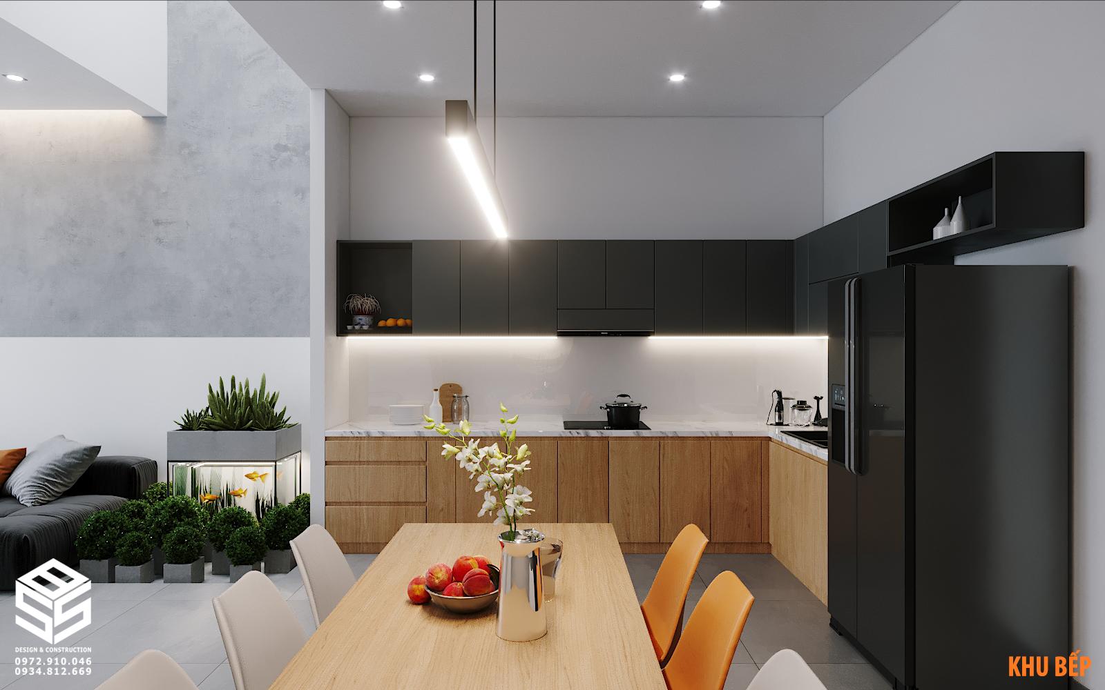 Mẫu phòng bếp đẹp hiện đại sang trọng