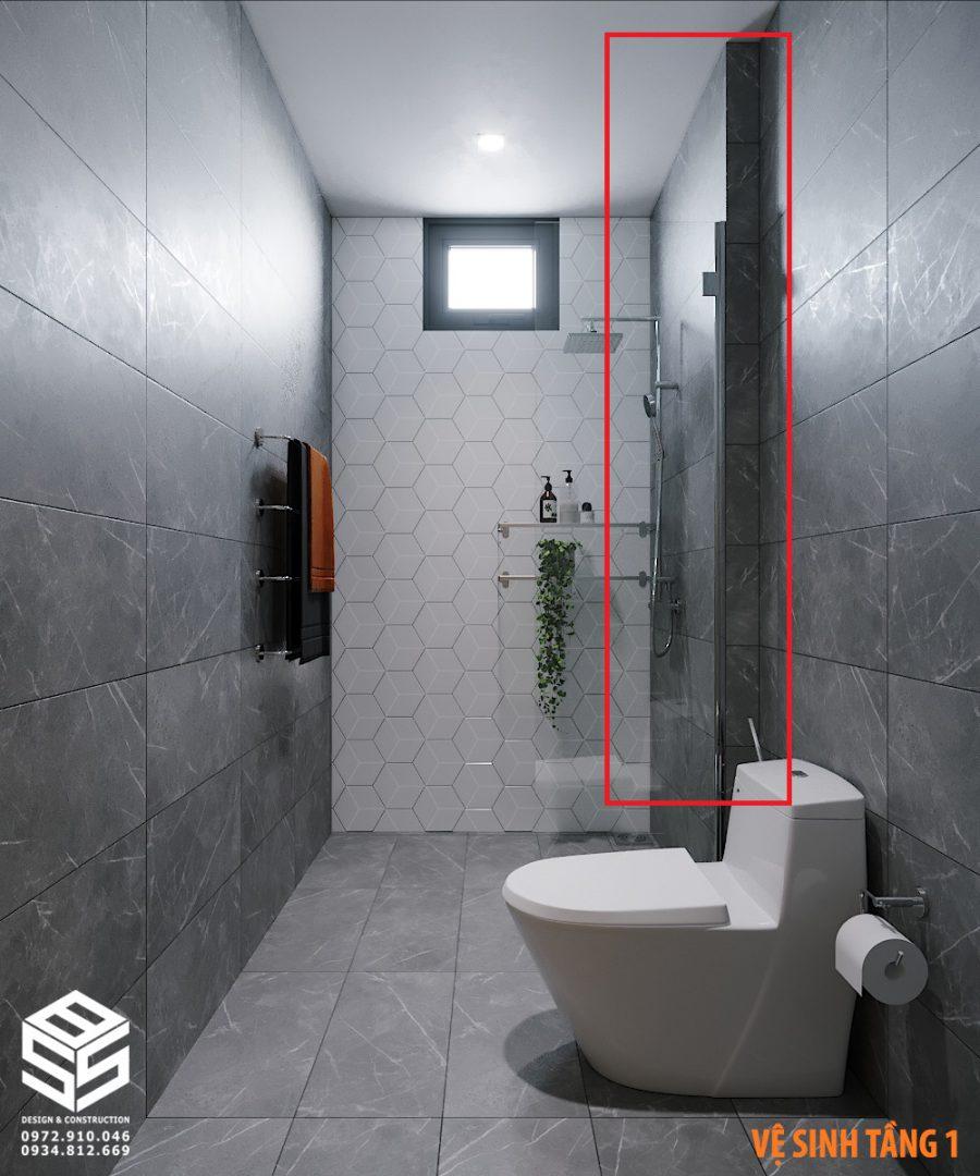 Hộp kỹ thuật trong nhà vệ sinh