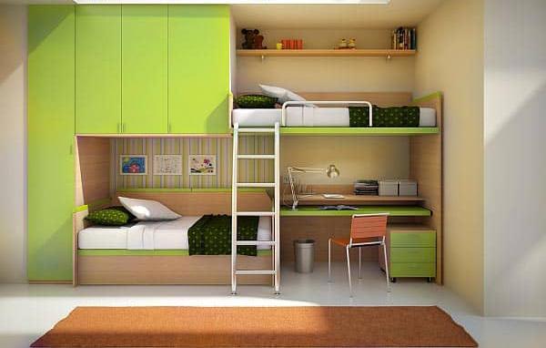 Giường tầng kết hợp bàn học