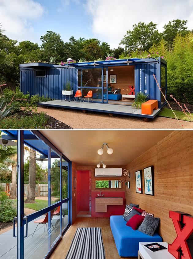 nhà làm từ container siêu đẹp tiết kiệm