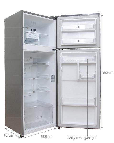 kích thước tủ lạnh 2 cửa