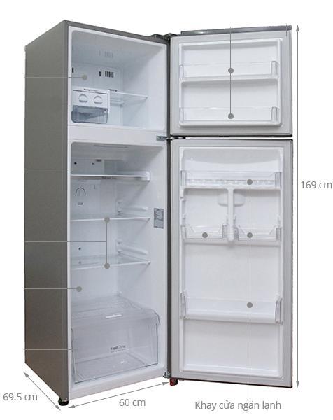 kích thước tủ lạnh 300l
