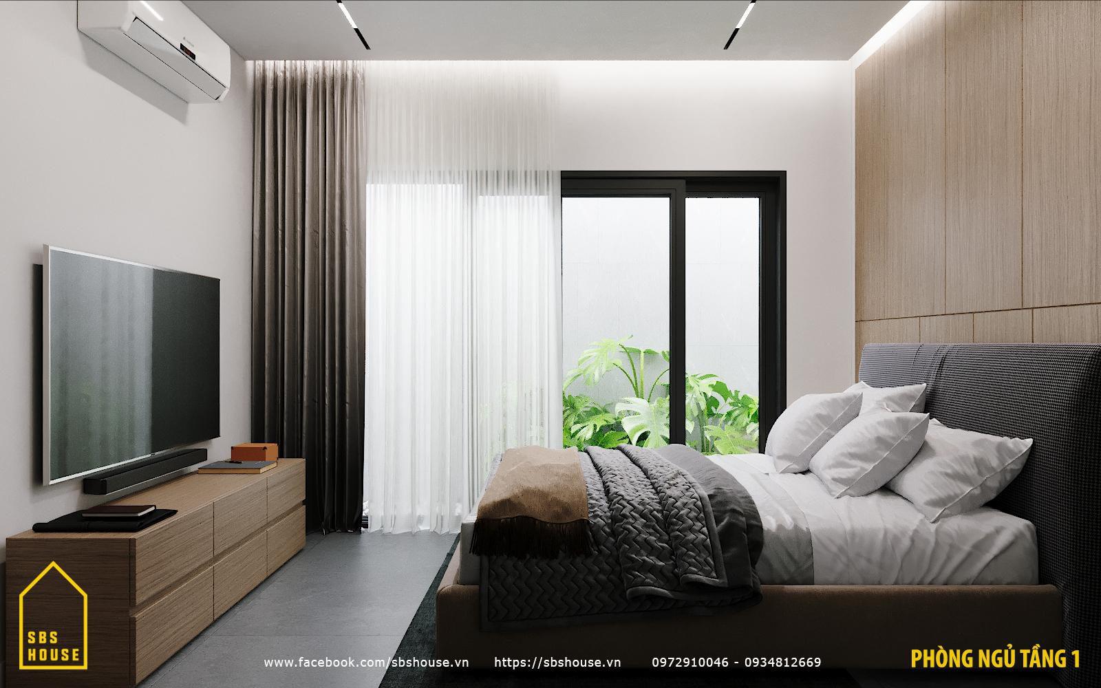 Thiết kế phòng ngủ đẹp với tiểu vườn