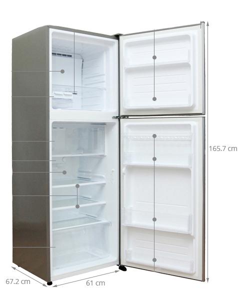 kích thước tất cả các loại tủ lạnh