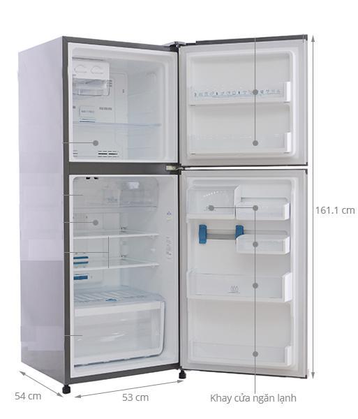 chiều cao tủ lạnh