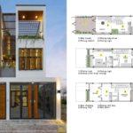 Thiết kế nhà phố 5x20m đẹp – hiện đại