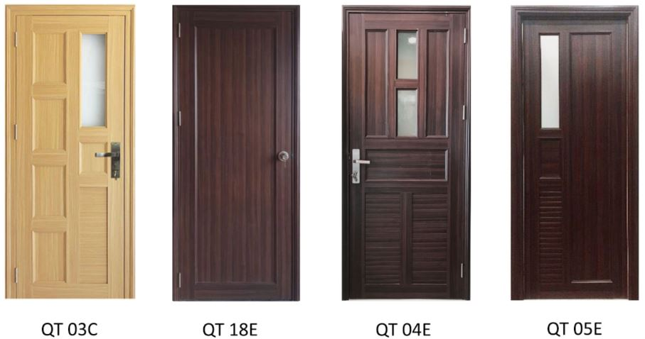 cửa nhựa vân gỗ đài loan