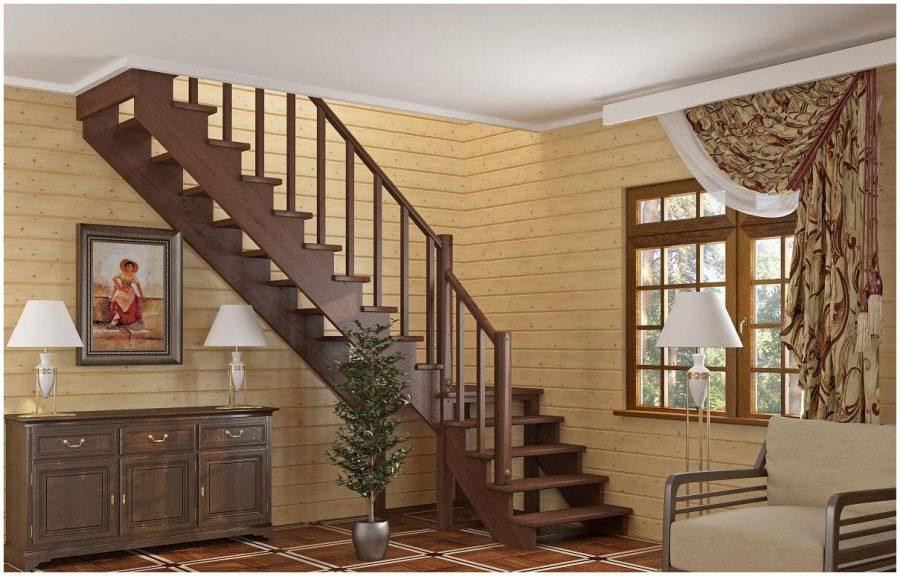 Cầu thang gỗ cho nhà ống
