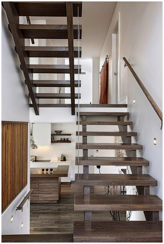 Cầu thang gỗ tối giản