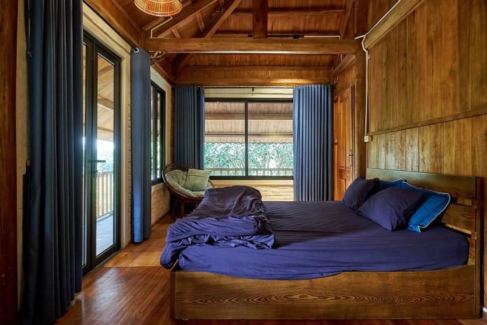 nhà bê tông giả gỗ