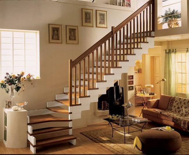Cầu thang gỗ tinh tế