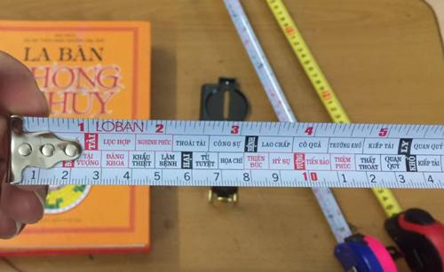 Thước lỗ ban để đo Dương trạch, Âm trạch