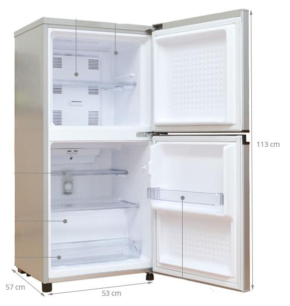 tủ lạnh 2 cánh kích thước
