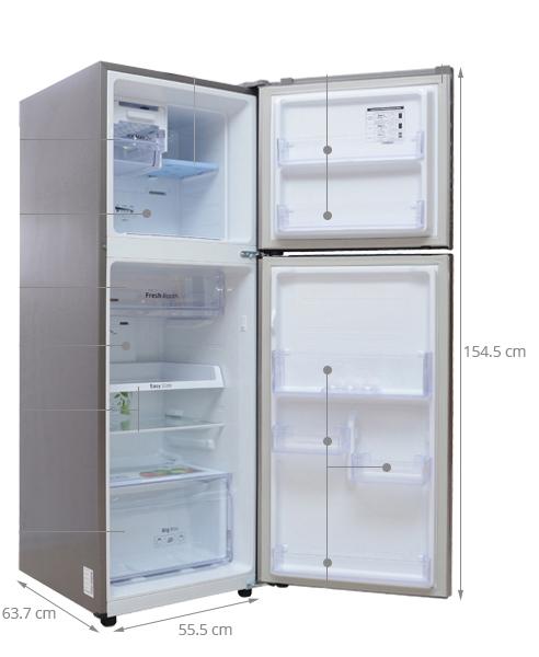 kích thước các loại tủ lạnh