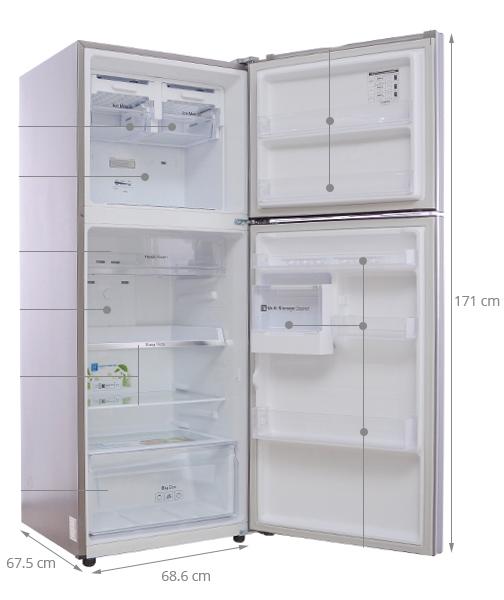 kích thước tủ lạnh 2 cánh samsung