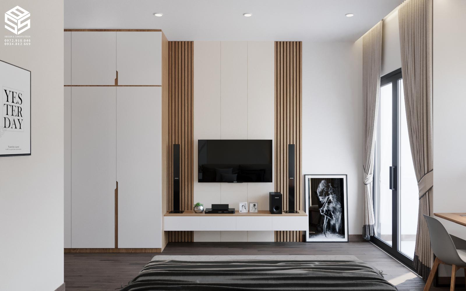 kệ tivi phòng ngủ hiện đại