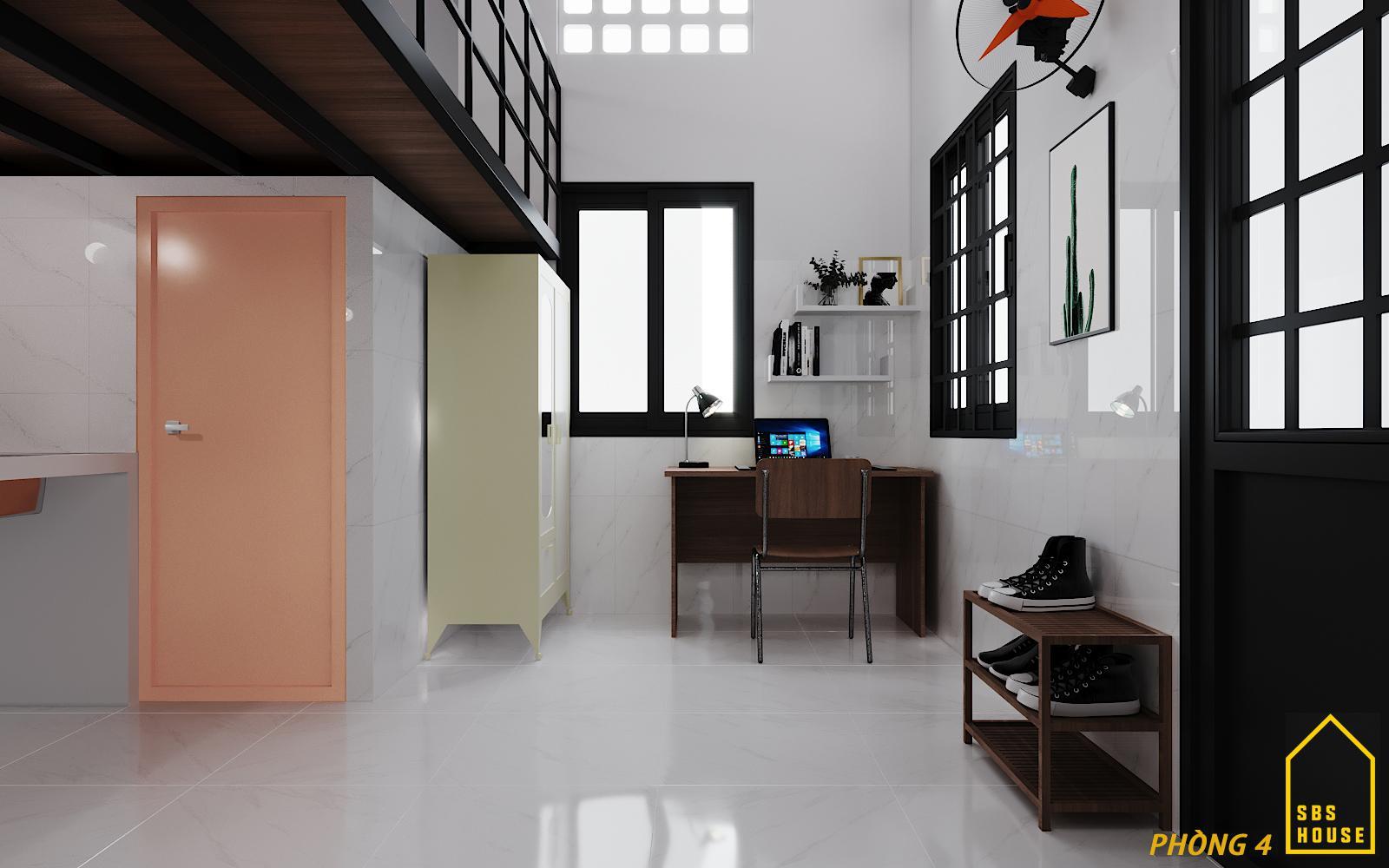 thiết kế phòng trọ 30m2