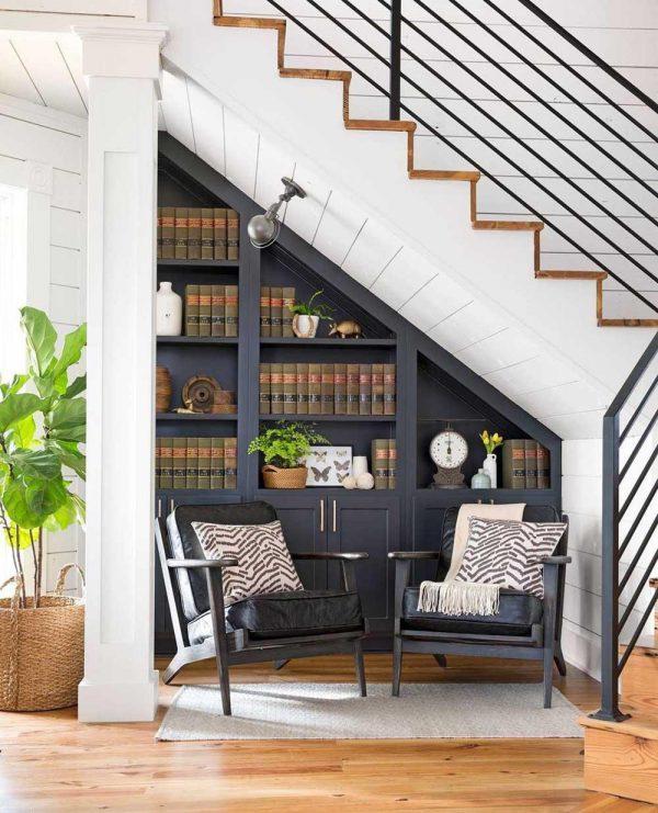 trang trí góc cầu thang đẹp