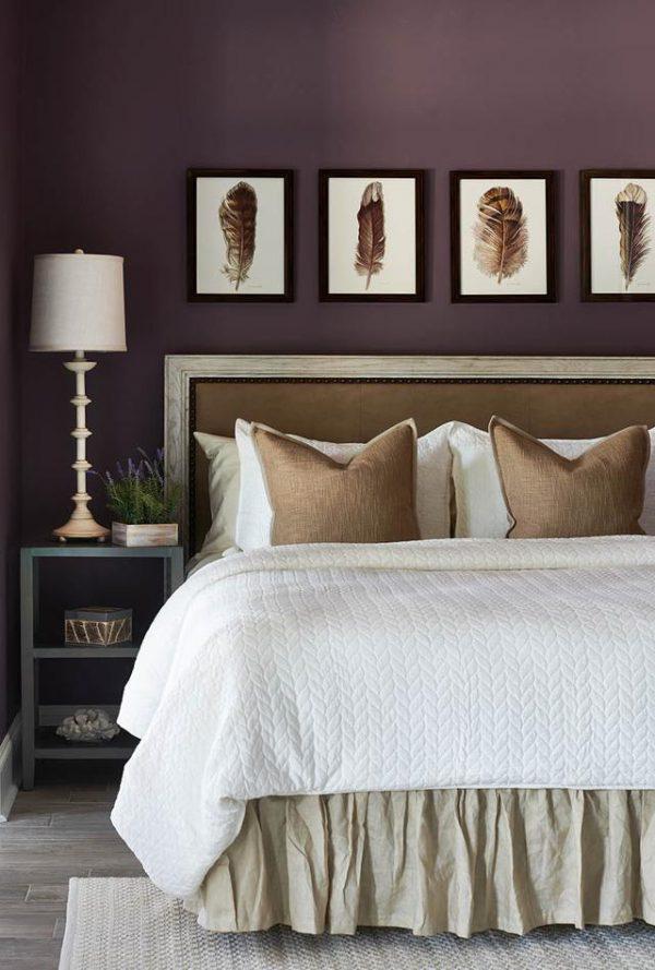sơn phòng ngủ màu tím
