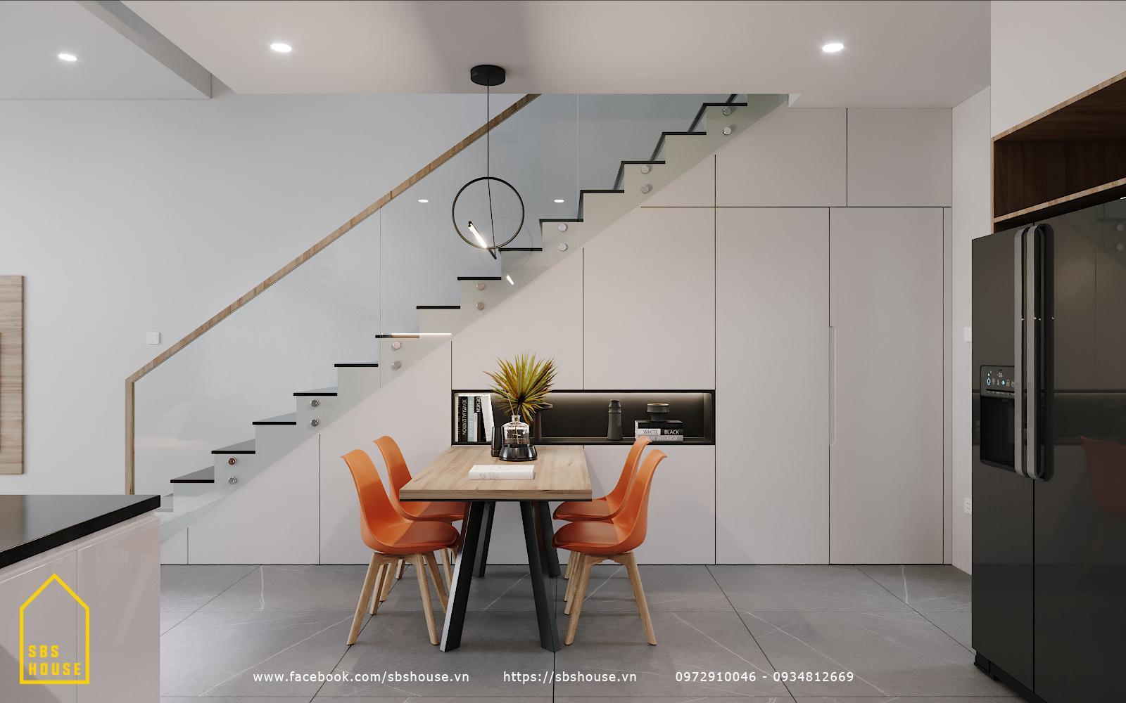 trang trí góc cầu thang