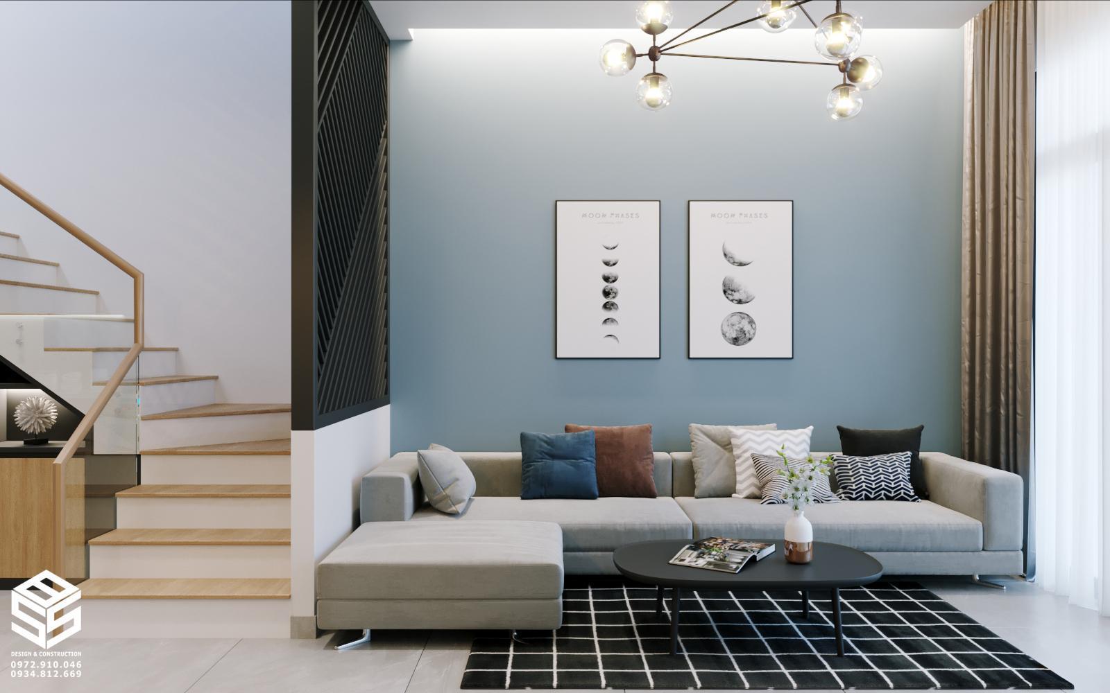 ghế sofa màu xám