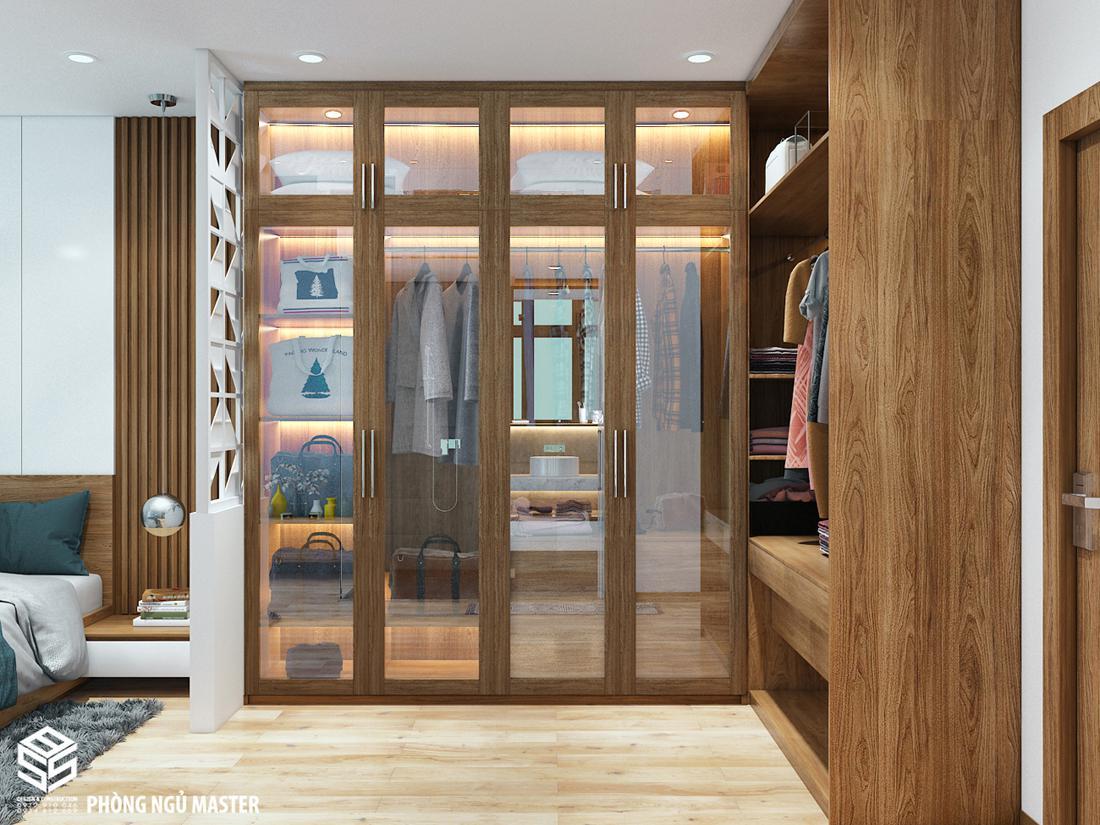 tủ áo quần đẹp sang trọng bằng gỗ