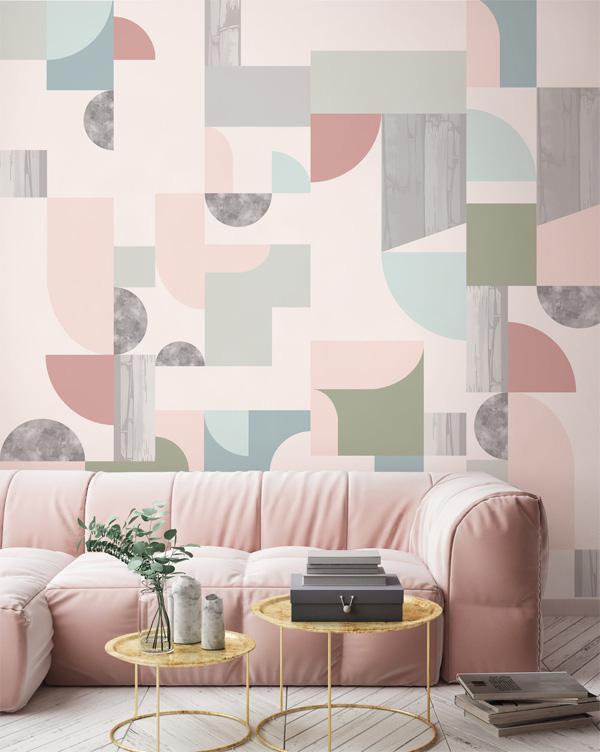 trang trí tường bằng giấy dán tường