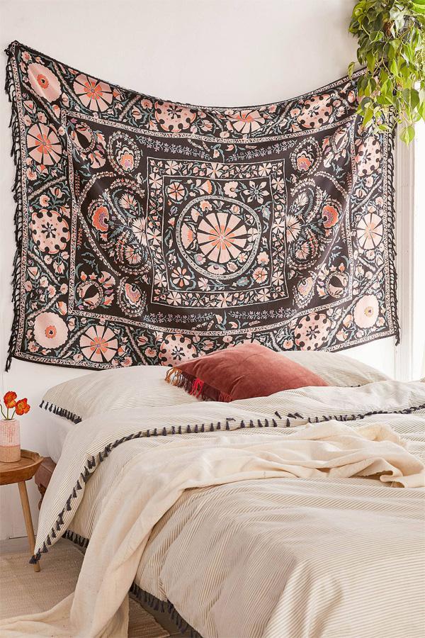 trang trí tường đẹp mộc mạc bằng vải
