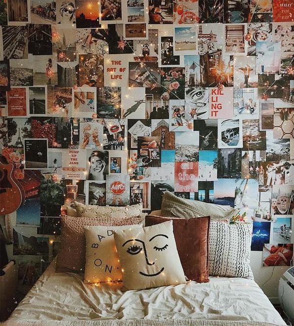 trang trí tường bằng ảnh kỉ niệm