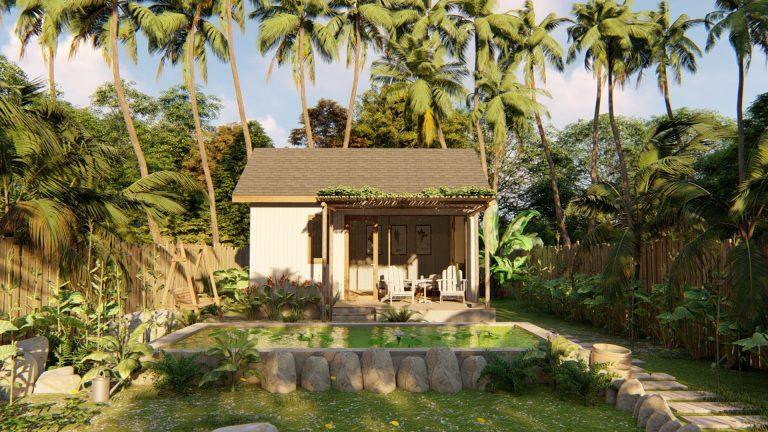 nhà vườn đẹp đơn giản