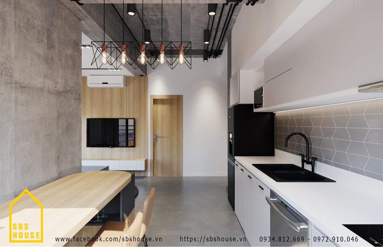 phòng bếp đơn giản