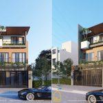 Mẫu nhà 3 tầng rộng rãi kết hợp văn phòng cho thuê