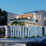Mẫu nhà 2 tầng lô góc | Cực kì rộng rãi và mát mẻ nhờ tone màu sáng