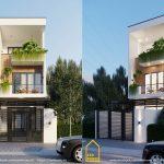Mẫu nhà 3 tầng đẹp dung hòa giữa hiện đại và vintage