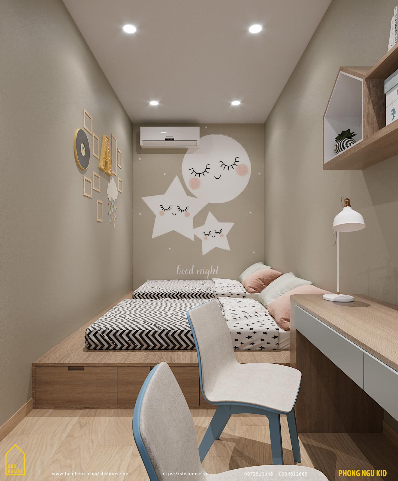 Phòng ngủ cho 2 con