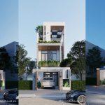 Nhà phố 3 tầng – Tươi mát mới lại của gia đình trẻ