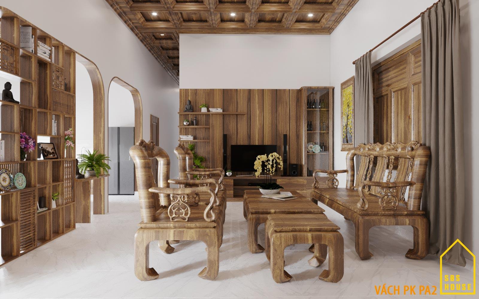 ghê sofa gỗ