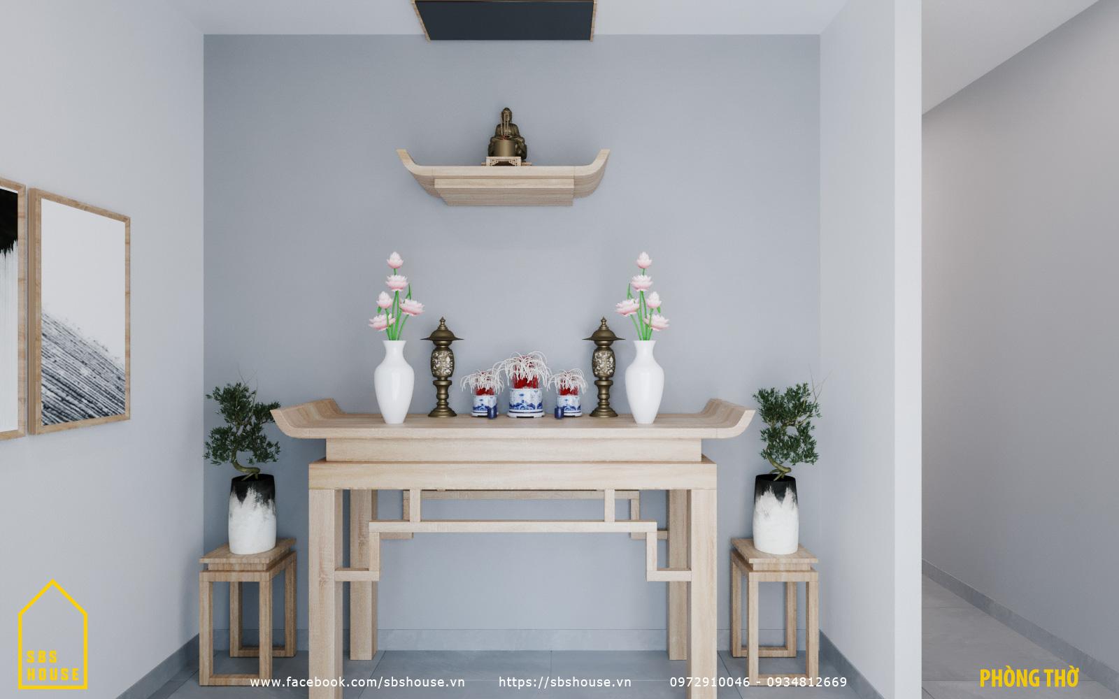 bàn thờ bằng gỗ