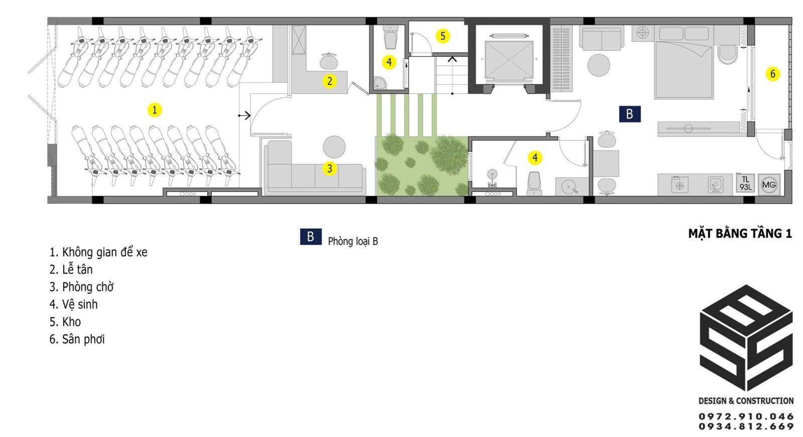 thiết kế mặt bằng căn hộ cho thuê