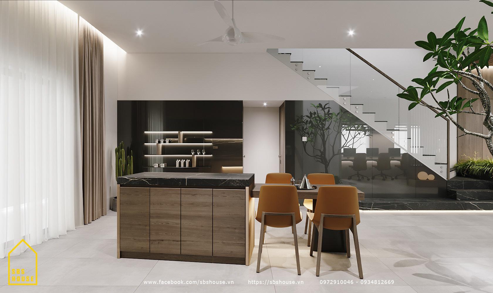 Phòng bếp đẹp cho người thích tone màu trầm