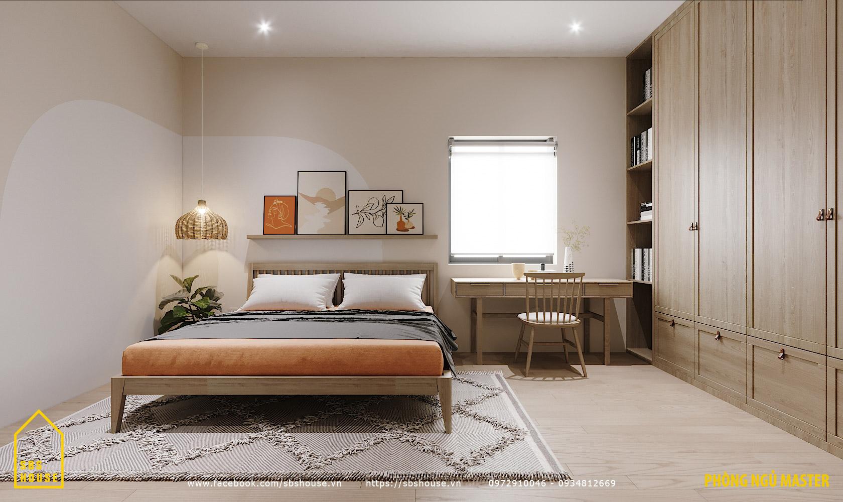 Phòng ngủ đẹp chất liệu chính bằng gỗ