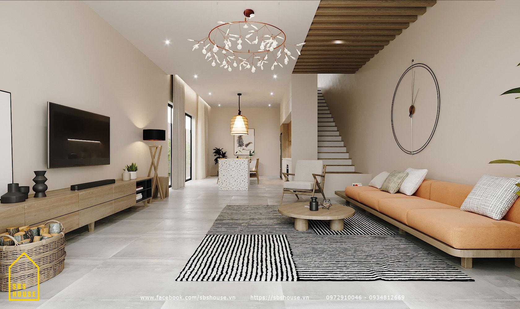 Phòng khách đẹp và rộng rãi