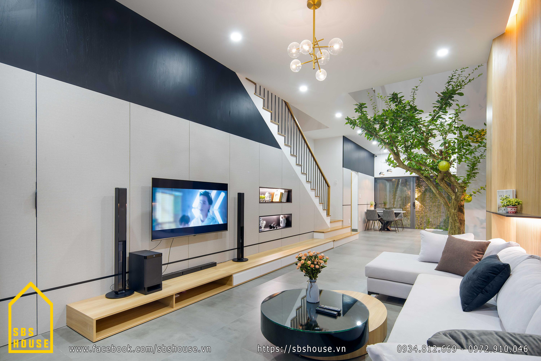 Phòng khách phong cách tối giản