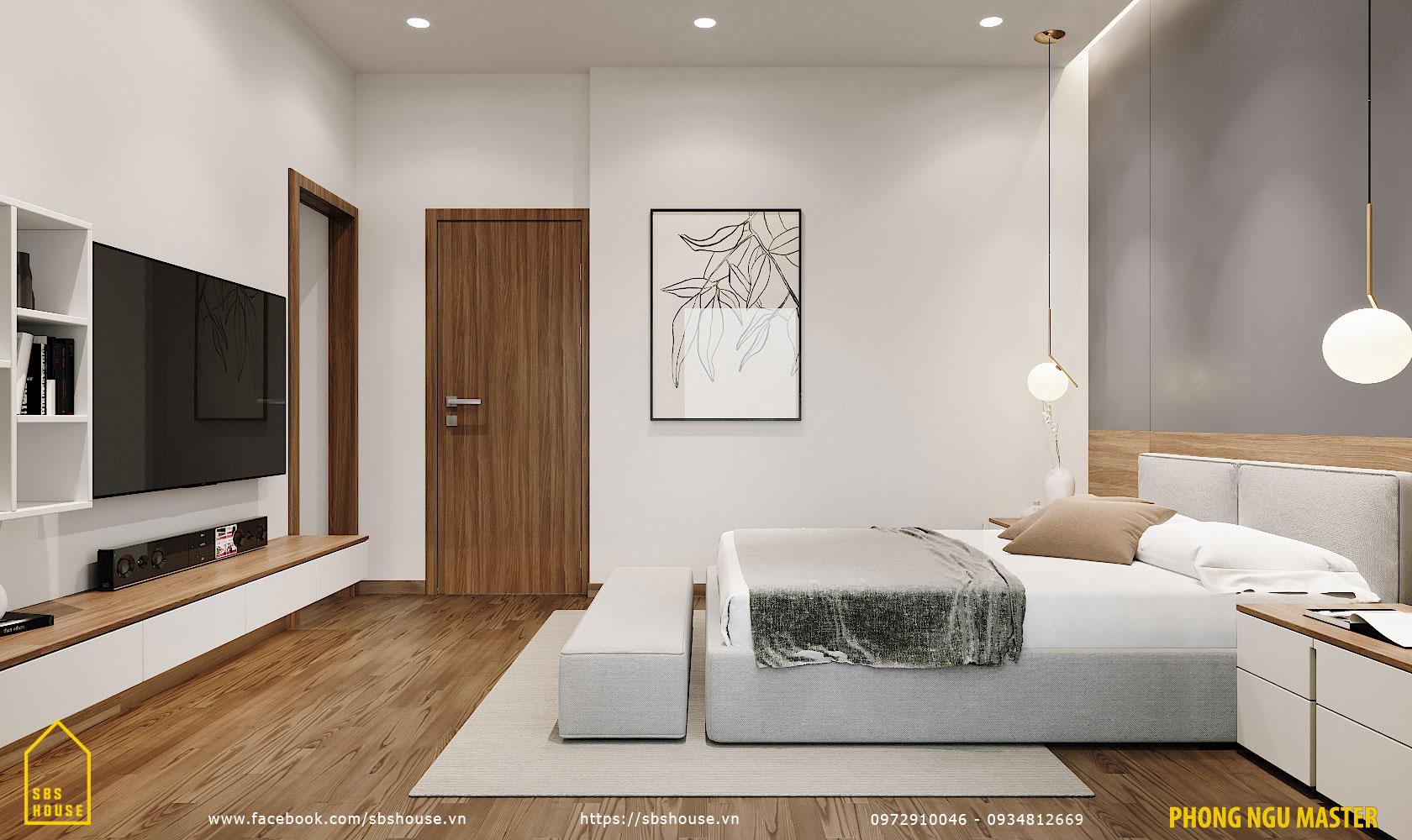 Mẫu phòng ngủ master tối giản